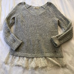 Hollister lace knit sweater